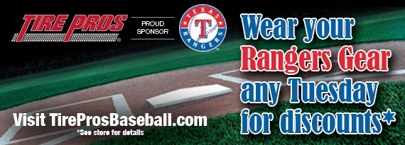 Wear Rangers Gear on Tuesdays for Discounts!